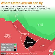 Qatar Route Map by Gulf Blockade Disrupts Qatar Airways Flights Qatar News Al Jazeera