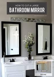 Pinterest Bathroom Mirror Ideas Large Bathroom Mirror Home Act