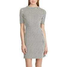 houndstooth dress chaps houndstooth jacquard shift dress