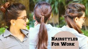 3 quick everyday hairstyles for work office college no teasing
