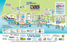 Florida Map Of Beaches destin seafood festival destin harbor parking and maps