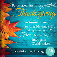 thanksgiving bible study the of the matter
