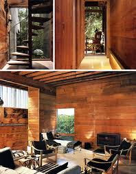 wood home interiors literal treehouse modern all wooden home in the forest