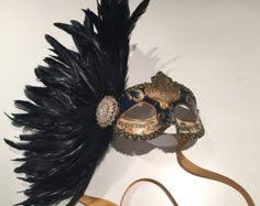 masquerade masks nyc rhinestone mask with feather mask costume party by doramarra