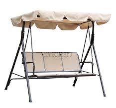 3 Seater Garden Swing Chair Metal Swing Bench Crowdbuild For