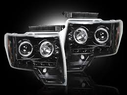 2012 ford f150 projector headlights recon part 264190bk smoked projector headlights ford raptor