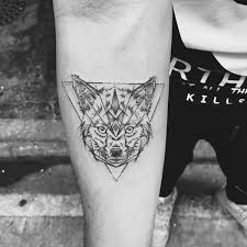 flowers and fox tattoos