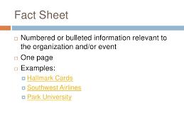 Event Fact Sheet Template Ca218 Relations Class 1