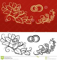 wedding ornament stock vector illustration of background 34452171