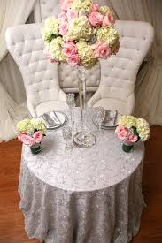 silver lace table overlay lace with silver sequins table cover right choice linen