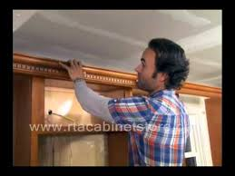 How To Install Kitchen Cabinets Video by Installing Crown Molding On Rta Kitchen Cabinets Youtube