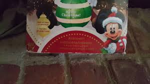 my 4ft mickey mouse christmas inflatable youtube