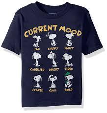 Peanuts Halloween T Shirts Amazon Com Peanuts Toddler Boys U0027 Snoopy Short Sleeve T Shirt