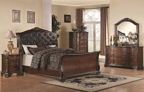 coaster maddison king sleigh bed with upholstered headboard