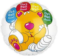 balloons get well soon get well soon teddy balloon earth flowers