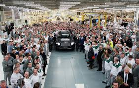 bentley headquarters first bentley bentayga suv rolls off the production line in crewe