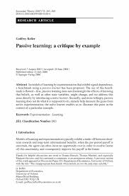 Speech Critique Essay Examples Critique Article Example