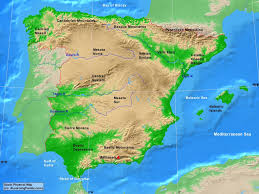 physical map of spain spain physical map a learning family