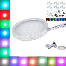rgb led puck lights yrank 6 ls led puck downlights under cabinet light rgb color