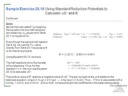 Standard Reduction Potentials Table Chapter 20 Electrochemistry Ppt Download