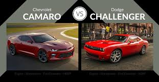 dodge charger vs challenger chevrolet camaro vs dodge challenger