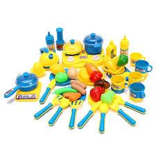 accessoire cuisine jouet 46 pcs ensemble classique accessoires de cuisine jouets set pour