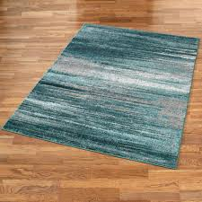 Aqua Blue Rug Stormy Skies Teal Abstract Area Rugs