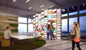 gradient matter shipyard sf welcome center interior design