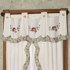 cordial garden floral swag valance window treatment