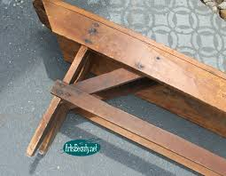 Wood Bench Plans Indoor by Remodelaholic How To Build A Primitive Farmhouse Bench