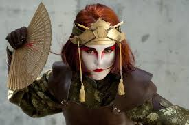 Aang Halloween Costume Kyoshi Warrior Suki Avatar Airbender Cosplay