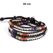bead wrap bracelet leather images Chakra natural stone leather wrap bracelet world of chakra wellness jpg