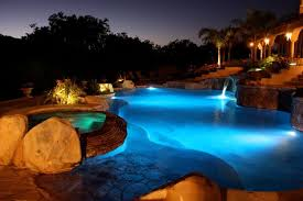 Outdoor Water Features With Lights by Lighting U2014 California Pools