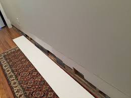 how would you reattach this baseboard home improvement stack