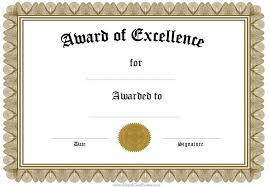 blank award certificate templates word certificate in word 8 free