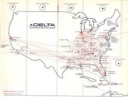 Spirit Airlines Route Map by Airline Timetables Delta Air Lines March 1971