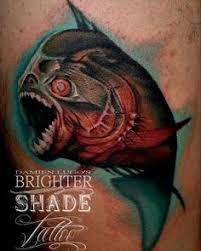 piranha tattoo amazing tattoo art pinterest tattoos tattoo