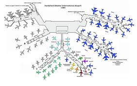New York Airport Map Terminals by Atlanta Airport 1980 Delta U0026 Other Airline Stuff Pinterest
