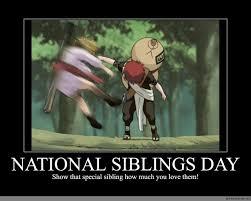 National Sibling Day Meme - national siblings day anime meme com