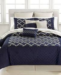 Navy Blue Bedding Set Royal Velvet Fenice 4 Pc Chenille Comforter Set 340 Liked