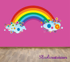 reusable rainbow wall decal childrens fabric wall decal extra reusable rainbow wall decal childrens fabric wall decal extra large 66 00 via