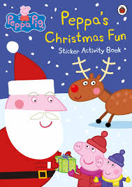 halloween sticker books peppa pig peppa u0027s christmas fun sticker activity book amazon co
