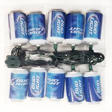 amazon com budweiser kurt adler 10 light bud light beer can light