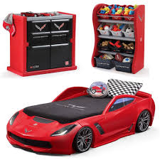 step2 corvette toddler to bed with lights amazon com step2 corvette bedroom combo for durable
