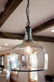 Candle Pendant Light Rustic Cage Half Gallon Jar Pendant Light Transparant Glass Design