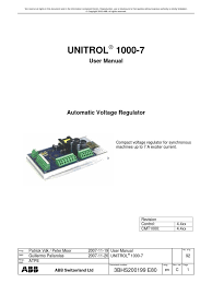 unitrol1000 7 user manual 4 4c electric power system