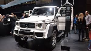 maybach landaulet mercedes maybach g650 landaulet is an ostentatious g class send off