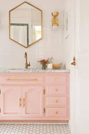 how to paint existing bathroom cabinets elsie s guest bathroom tour before after a beautiful mess