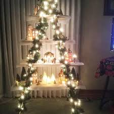 ladder christmas tree 5 foot wooden ladder christmas display ladder