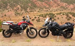 bmw f800gs motorcycle 2014 bmw f800gs adventure vs triumph tiger 800xc